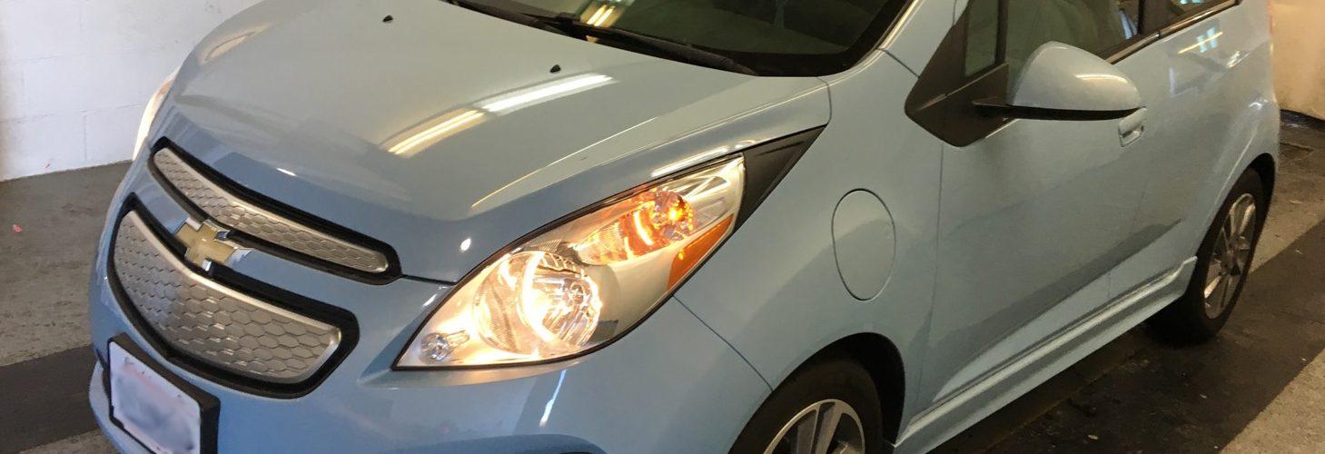 CHEVY SPARK EV LT 2015  40 308 Km – 16 750 $ (seulement 14 421 $ avec subvention) – VENDU