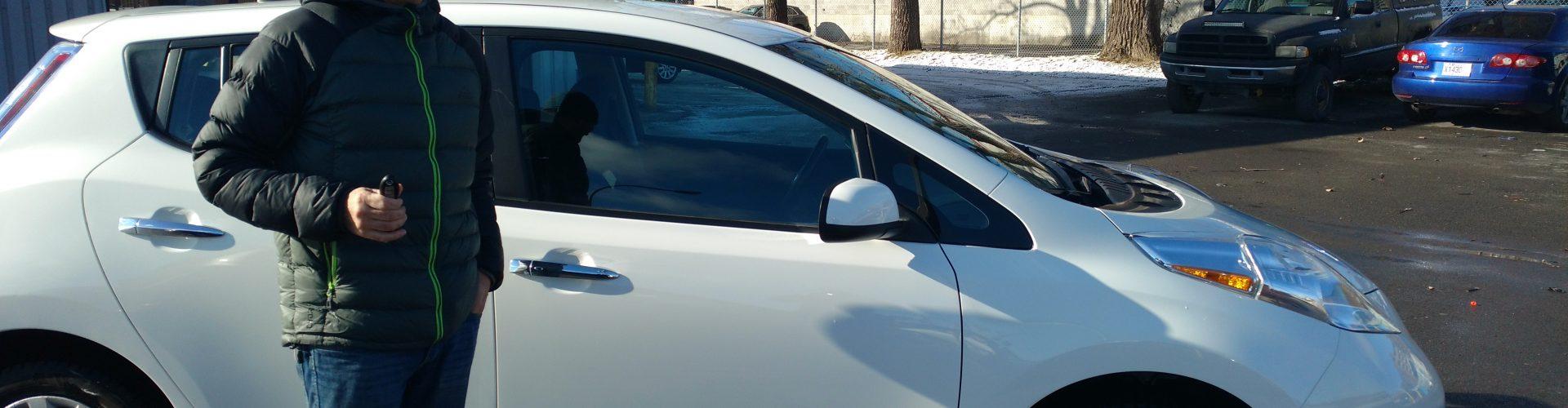 Témoignage de F. Bouchard – Heureux propriétaire d'une Nissan Leaf 2015 de MUZE
